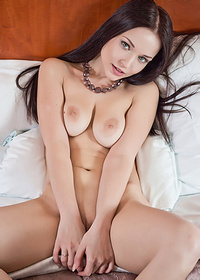 Delicious Black-Haired Teen Spreading Her Legs