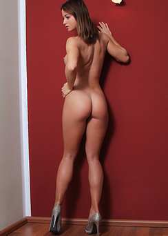 Marion In Exotic Nude Near A Wall